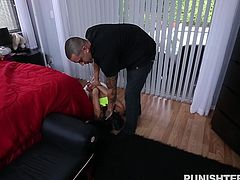 Holly is a dirty little slut, who acts naughty with her man. She knows he is bad tempered, but maybe this is exactly what she loves about him..and of course his cock. See what she gets for being a bad girl. Will she do it again?