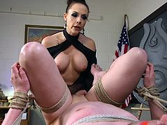 mistress chanel gives a lesson to her man slave