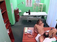 The doctor is very thorough when it comes to his examinations, both of his patients and the nurses under him. He finds out this applicant would be a very good addition to the team. Her pussy is so slick and tasty.