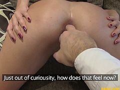 I've met Pixiee in a mall and she joined me in the hotel room, hoping she will be an actress, but first let's test her skills. With her tight asshole and the way she sucks my balls, she can pass any exam. The girl is incredibly tight and slutty. She may not look so experienced but she is, trust me.