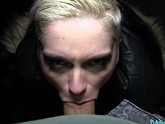 The moment I saw her, she made my dick so hard, that I knew, I have to stuck my fat dick in her mouth. And I was right, she was one of a kind. She desperately loves cocks and she knows what a real facial is. She's not missing any inch of my dick and balls.