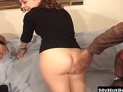 Lita Lynn is a cute petite brunette with a hairy pussy that makes the cocks that go into her look bigger. Not that Shane Diesel needs anything to make him look more endowed. That guys got enough cock to fill up two girls like Lita. She was stretched out like nobodys business by the end of this scene.