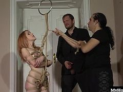Amarna Miller is willing to do whatever it takes to prove her submission to Daryl, and hes after an energetic girl that can take all of the exciting things him and his friend will want to do wit her. Shes into suspension, so wen these dudes start tying her to the ceiling with ropes, she knows its going to be a great time, especially when that load drips into her mouth.