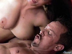 Sara Stone is wet as the ocean in this steamy anal scene with Tom Byron and lots and lots of booty fucking