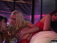 Michelle Thorne usually spends her nights getting her cunt rammed in by the thick cocks of hung black men, but tonight shes stepping out of the box and letting girls play with her pussy and make out with her, and shes having a great time