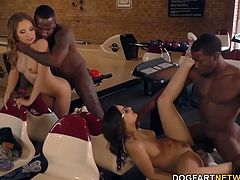 With two horny black cock sluts and a really slow night at the bowling lanes, do I really have to tell you what's about to go down? Both girls love to be pounded, and our Russian -- Diya -- only wants it in the ass.
