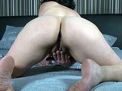 Being home alone all day long, Tanja often gets horny, but no one is around to satisfy her needs. She has her red dildo and she starts rubbing her hairy pussy, while she's filming the whole scene. Don't miss her moans of pleasure...