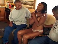 Two sexy and sultry black chicks take turns working on their black dude's huge poles. It was a road trip of a lifetime and these ebony couples got intimate in the RV. Chastity gets rammed so hard. So relax and have fun!
