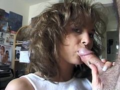 My wife Leanna is a real treasure. She is still very attractive, her huge titties are still resilient and her sex appetite is still big. I think she is even hornier, than ever before. She by herself suggested me to make this video. Watch Leanna sucking my hairy dick and balls, on knees, for your pleasure.