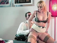Office beauty Kathia Nobili fucked at work