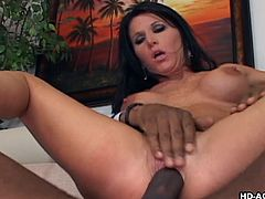She is sucking that huge dick with so much lust and riding it like a real pro. Nothing is better for her than a monster black cock, pounding her hard. Click and enjoy, how slutty mature Kendra, is getting a good fuck.