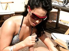 Bettina DiCapri gets her pretty face covered in jizz on cam for your viewing entertainment
