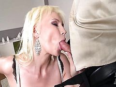 Sandra Star with huge boobs and clean snatch gets hammered so hard that her honeypot will never be tight again