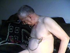 sissy tommy gives himself some CBT and nipple torture