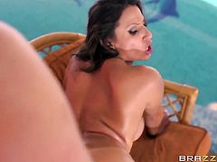 Brunette Sensual Jane cant wait to be banged in the ass by her horny man