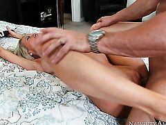 Blonde exotic Preston Parker with huge hooters and bald twat is a handjiob addict and cant live a day without jerking meat pole with her hands