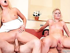 Blonde Bella Baby tries her hardest to make horny bang buddy bust a nut with her mouth