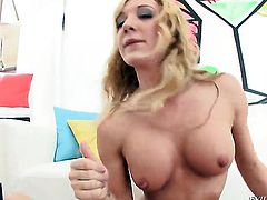 Warm goddess Amy Brooke kills time fucking with hard dicked guy