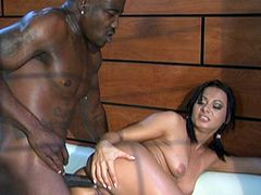 SANDRA ROMAIN FUCKS WITH A BIG BLACK COCK