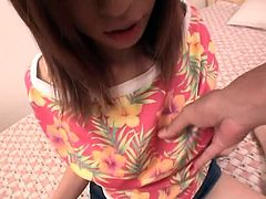 Watch the big boobed Asian babe Yui Sarina, having passionate sex with her boyfriend. You can't take off your eyes from big incredible tits of this Japanese babe and her nipples are so sensitive. Her boyfriend fondled her boobs, bitten them, fingered her pussy and finally, banged her really hard.