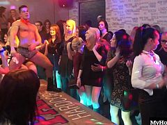Having big titties isnt something all of these ladies have in common, but theyre certainly all horny and ready to suck as many stripper cocks as they can. Lilly has a great pair of knockers on her, and theyre so big and round, Jester puts his hands on them from behind, twirling them in the air, while Beatrice feels up Bobbys ass with her mature hands.
