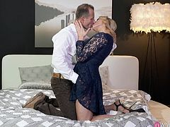 I am going for business tour. My sexy wife Brittany Bardot, wants to ride my cock. I am also keen to grab her breasts and press them hard. Today, she is focusing more on blowjob and deepthroating. I will have to drill her holes deep, otherwise, she will find other guy to fuck her...