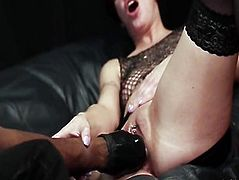 Interracial fist fucking and urinate squirting orgasms