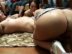 Chicana Diamond Kitty with juicy butt and hairless beaver gets heavily hammered