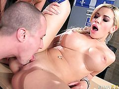 Blonde Anissa Kate with giant melons gets the ass way fuck of her dreams