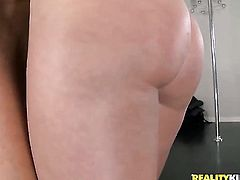 Blonde Sammie Rhodes with bubbly butt and smooth snatch cant live a day without touching her vagina