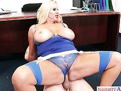Blonde asian Jessy Jones with juicy bottom and bald cunt has some dirty sex fantasies to be fulfilled in cumshot action