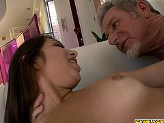 Step dad licking Ariana Grands sweet pussy