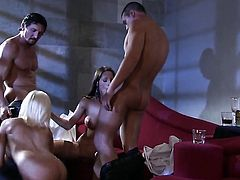 Gorgeously sexy vixen Shyla Stylez gives giving oral pleasure to horny guy