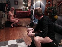 Want to learn what it's like to film a porno? Here's what it like working with kinky pornstar Lorelei Lee. She does it all from sucking cock, to having her master tease her cunt. She loves to be photographed in bondage.