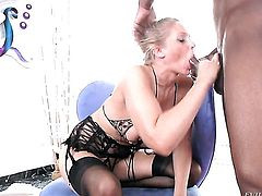 Julia Ann is one oral slut who gives guys meaty snake a try