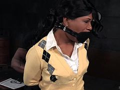 Our school has a special punishment for girls, who get failed. She is tied hard by out teacher Jack Hammerx. He grabs her breast and presses hard, until she screams loud. He slaps her bums, until they become completely red. But this is not the end, the real punishment starts, when he inserts his big black cock in...