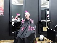 headshave of a cute girl