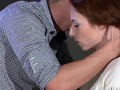 It has been long Honey did not talk to her ex. But she had to, since she left her necklace in his house. She went his home to bring it. It was not that easy to restrain the temptation. Honey's boyfriend wanted to fuck her again and she did not stop him doing so.
