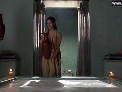 Lucy Lawless, Katrina Law - Explicit Full Frontal, Topless - Spartacus