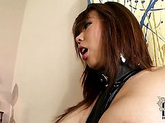 Exotic with huge jugs and trimmed muff is a cumshot addict