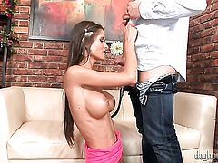 Etienne Pauliac shows her fuckable cornhole to lucky man before he bangs her