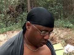 big breast german stepmom gets wild fucked by a black dick in the forest