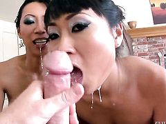 Sultry asian cutie Yuki Mori has fire in her eyes as she gets cum soaked after sex with hot guy
