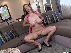 My husband is coming from business tour and finally, I will do sex after a long time. I can not stop masturbating, as I am getting horny, just by thinking about his big cock. He will suck my tits and squeeze them. I should rub some oil on them, because he loves oiled body. Let me wet my pussy with fingering.