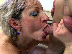 Horny mature chick from the Eastern Europe is having the rough sex