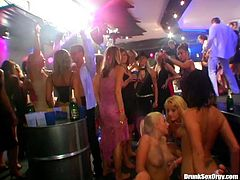 Cock hungry bitches getting fucked at a fashion show