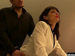 Ava Courcelles is a very busy business woman, because her pussy gets a lot of attention around the office. Whether its her boss or her coworker, Ava can be found in the bathroom taking dicks and putting out like the hungry little whore she is.