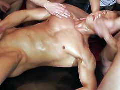Non-Professional euros jerking at party in group