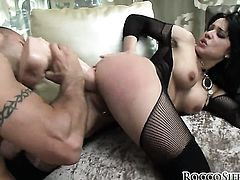 Brunette wants his love wand to fuck her bum hard