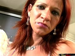 There are other fun things to do with a cream filled donut then just eating it. And spicy shemale Paolla Felix was happy to let us watch how she enjoys her tasty treat. This redhead tranny babe...